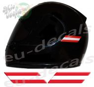 Helmet Austria Flags 3D Decals Set Left and Right