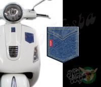 Front Pocket Love Denim 3D Decal for all Vespa models