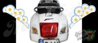 Rear Daisies Set Left and Right in ice blue Turn Signal Extensions 3D Decals for Vespa GTS GTV 250 300 models